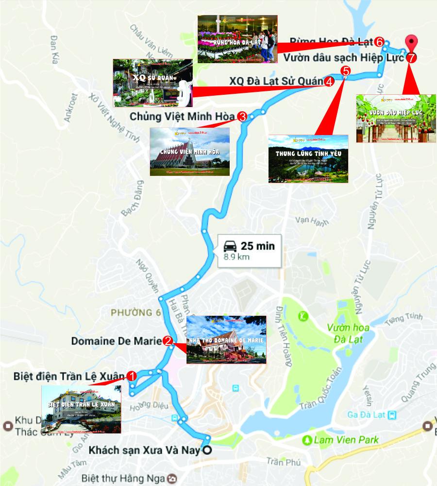 Tuyến tham quan phía Bắc thành phố Đà Lạt